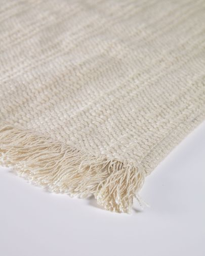 Aicha set of two 100% cotton tablecloths with beige fringe 35 x 50 cm