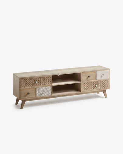 Mueble TV Hoob 160 x 51 cm de madera maciza de mango