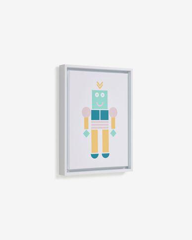 Julisa robot picture, multicolour 30 x 40 cm