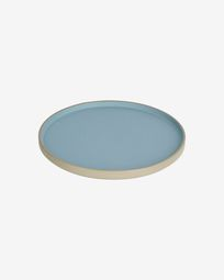Midori ceramic dinner plate in blue