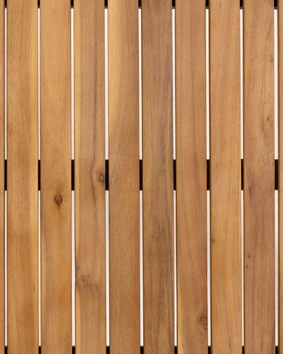Yukari Tisch Akazienholz mit Teak-Effekt und schwarze Stahlbeine 165 x 90 cm FSC 100%