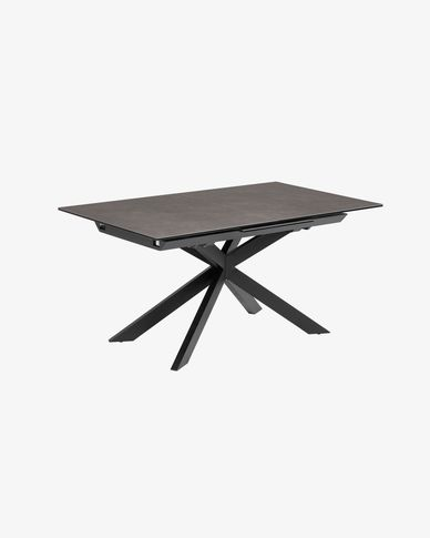Table extensible Atminda 160 (210) x 90 cm plateau grès cérame