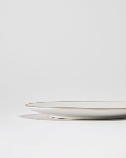 Piatto da dessert Manami in ceramica bianca