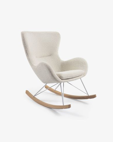 Vania rocking chair in white shearling