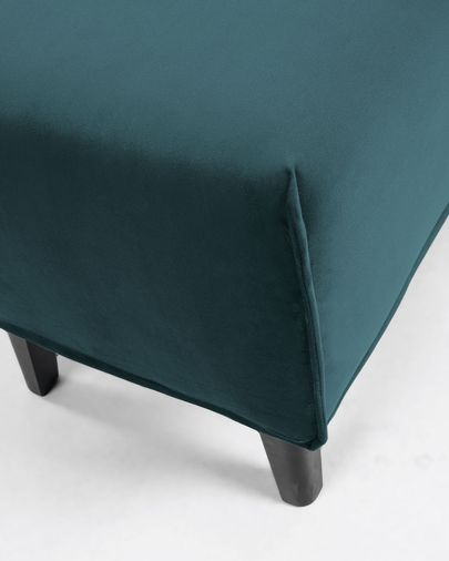 Banquette Dyla velours turquoise 111 cm