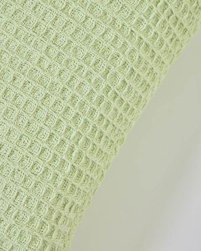 Funda cojín Shallowy 100% algodón verde 45 x 45 cm