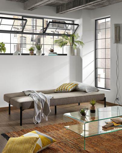 Nelki sofa bed in grey 190 cm