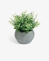 Eucaliptus artificial em vaso cinzento