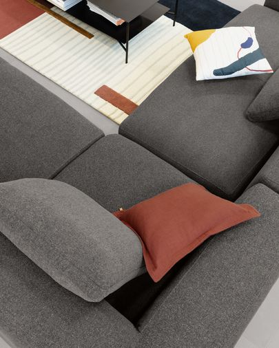 Grey Blok 5 seater corner sofa 320 x 290 cm