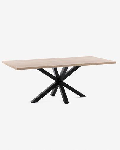 Argo table 180 cm natural melamine black legs