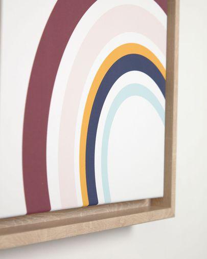 Cuadro Cindi arcoíris multicolor 29,8 x 42 cm