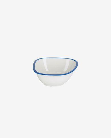 Ciotola piccola Odalin porcellana bianca e blu