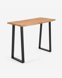 Alaia high table made from solid acacia wood with natural finish 140 x 60 cm