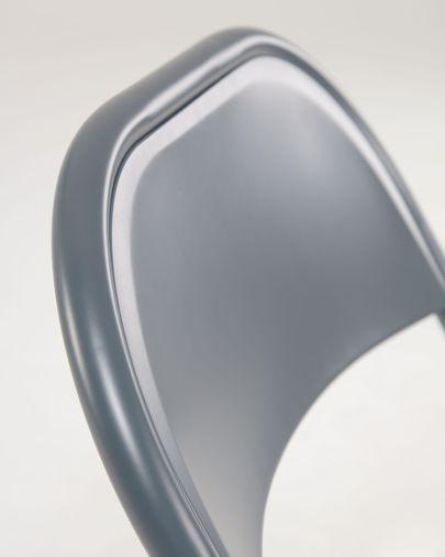 Aidana metal folding chair in dark grey