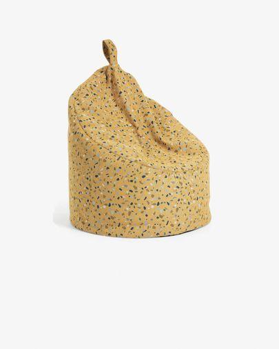 Pouf Bimba Ø 80 cm senape
