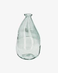 Brenna medium clear vase