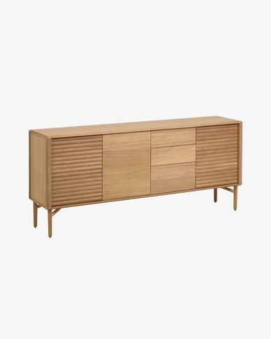Lenon oak wood sideboard 200 x 86 cm FSC MIX Credit