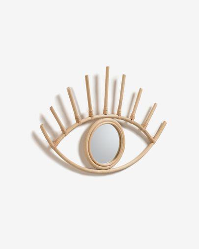 Espejo Maela de ratán 55 x 36 cm natural
