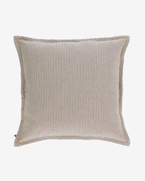 Poszewka na poduszkę Aleria bawełna w brązowo-beżowe paski 60 x 60 cm