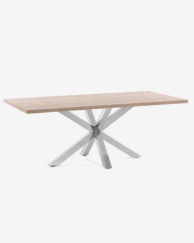 Argo table 200 cm natural melamine stainless steel legs