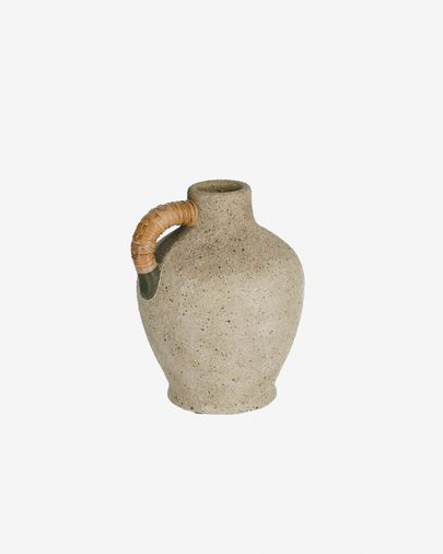 Agle graue Keramik-Vase, 25 cm