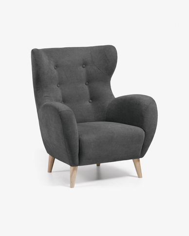 Dark grey Patio armchair