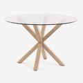 Tables rondes en verre