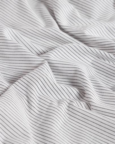 Set Mariel de lençol, capa edredão e capa almofada 150 x 190 cm algodão orgânico