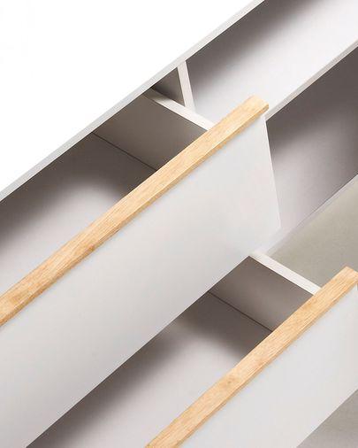 Aparador Melan 160 x 72 cm con lacado blanco y madera maciza de caucho