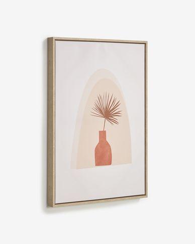 Quadro Izem vaso con fiore marrone 50 x 70 cm