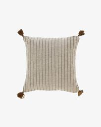 Sagira grey stripes cushion cover 45 x 45 cm