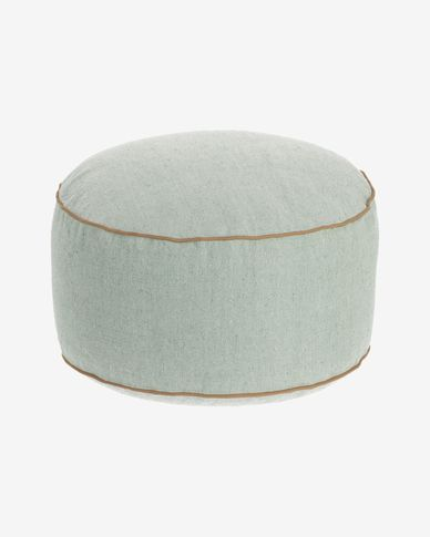 Dalila PET green pouffe Ø 60 cm