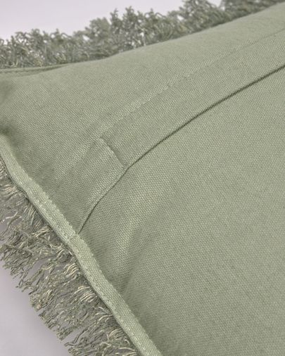 Shallow 100% cotton cushion cover in green 45 x 45 cm