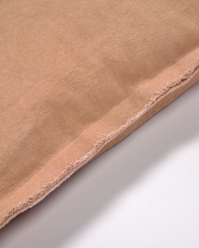 Achebe 100% katoenen kussenhoes in bruin 60 x 60 cm