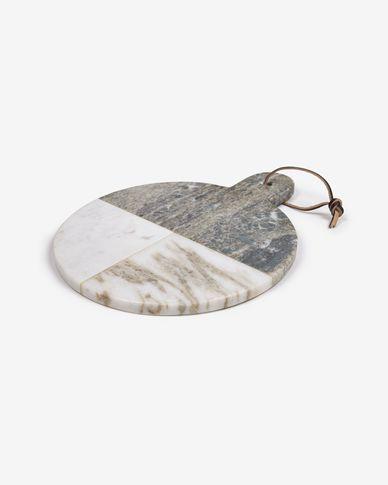 deska do krojenia Xamila duża okrągła  z wielobarwnego marmuru