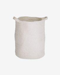 Abeni 100% cotton basket in white