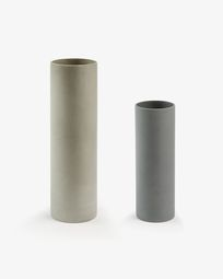 Marta set van 2 vazen cilinder