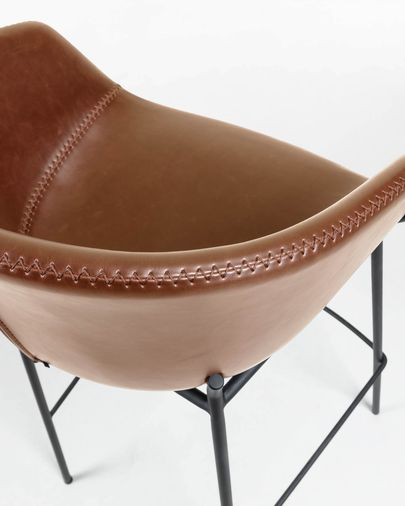 Brown synthetic leather Yvette barstool height 65 cm