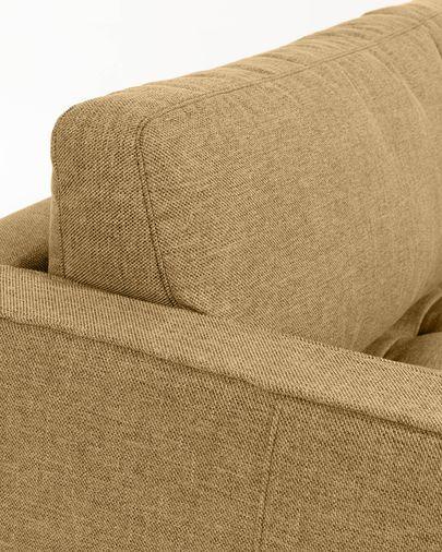 Debra mustard 3-seater sofa with pouf 222 cm