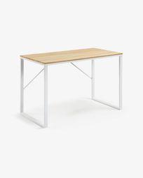 Rechthoekig bureau Talbot wit 120 x 60 cm