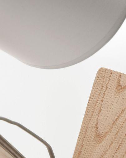 Lámpara de sobremesa Repcy de madera maciza de eucalipto