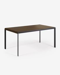 Nadyria 160 (200) x 90 cm table with an walnut finish