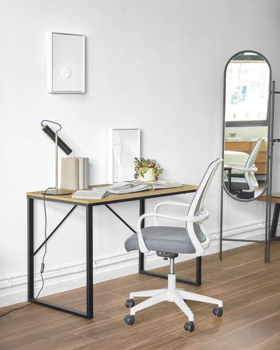 Silla de escritorio Melva gris