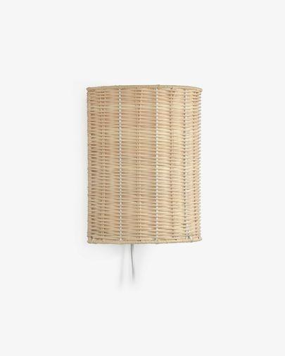 Lampa ścienna Kimjit z rattanu z naturalnym wykończeniem