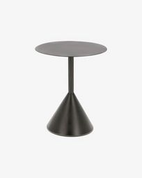 Table d'appoint Yinan Ø 48 cm noir