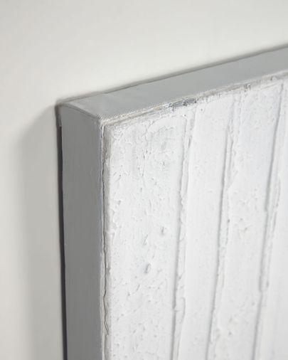 Kunstwerk Basilisa met grijs en wit 90 x 90 cm