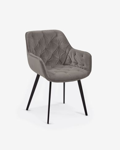 Cadira Mulder vellut gris
