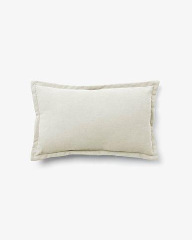 Lisette cushion cover 30 x 50 cm in white
