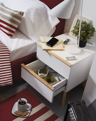 Melan bedside table 40 x 50 cm