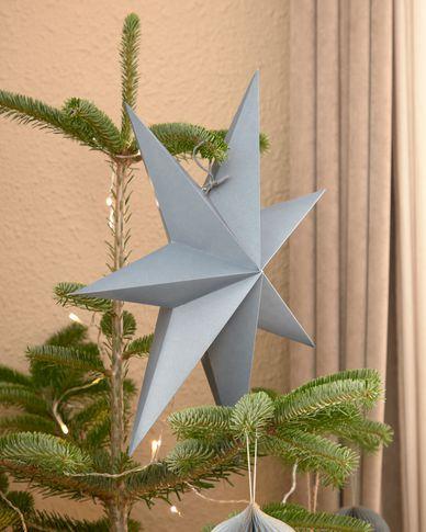 Decoratieve ster Vica middelgroot hangend in blauw